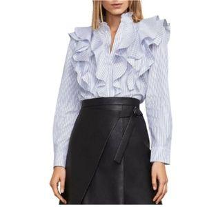 NWT BCBGMaxazria- Allexandria Ruffle Shirt